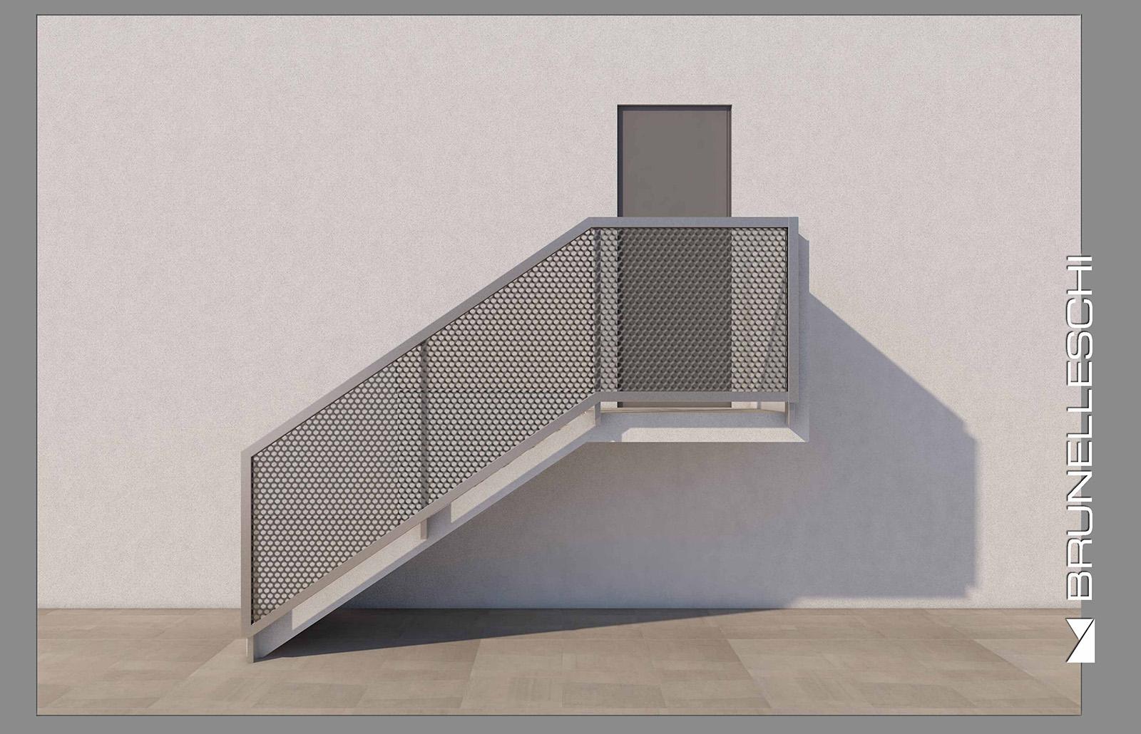 """Aluminium railing """"Brunelleschi"""" - Railing Aluminium Design ..."""